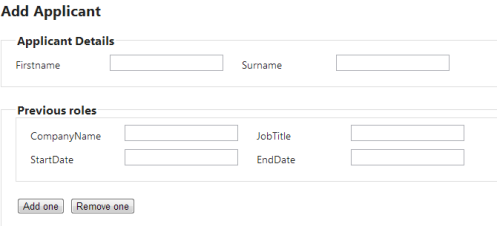 how to add two fields to a list mvc