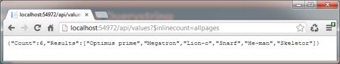 Inline count json