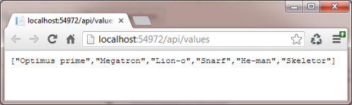 Nice friendly json