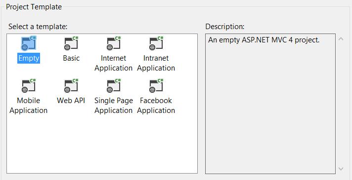 Empty web application