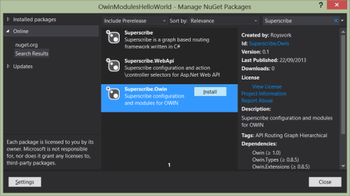Superscribe nuget