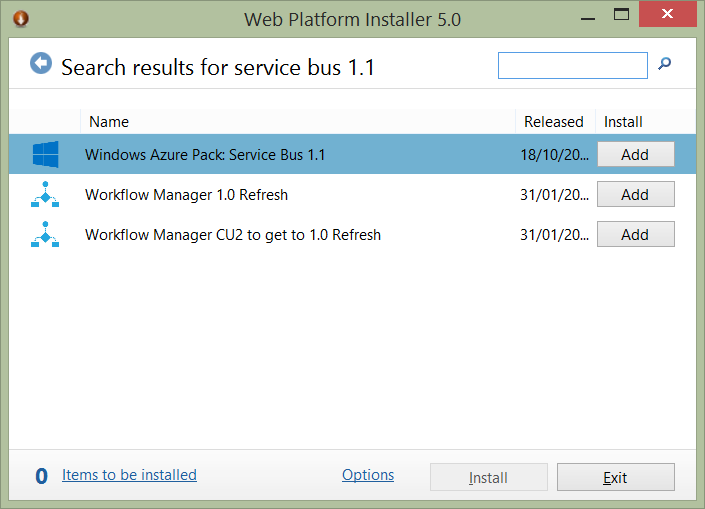 Developing against Service Bus for Windows 1.1